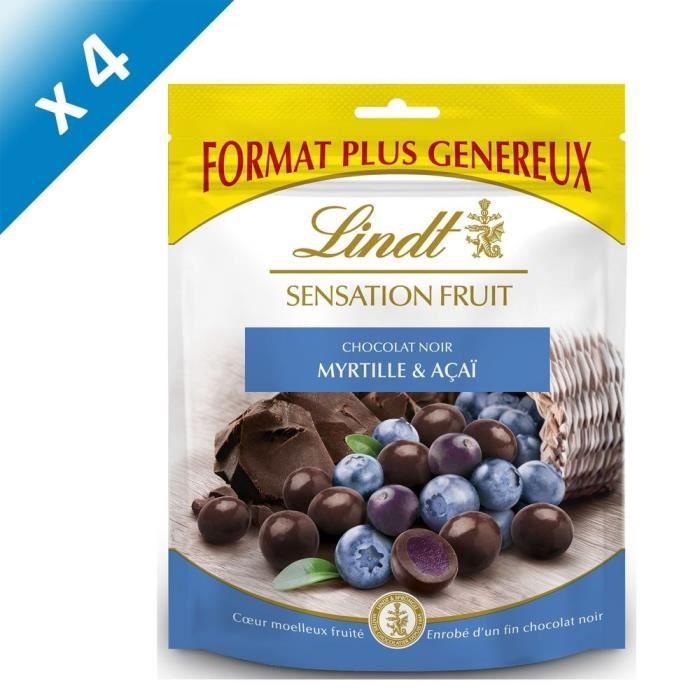 [LOT DE 4] LINDT Sensation Fruit Myrtille et Açaï