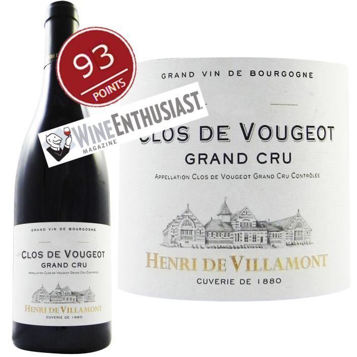 Henri de Villamont Clos de Vougeot 2010 Grand Cru - Vin rouge de Bourgogne