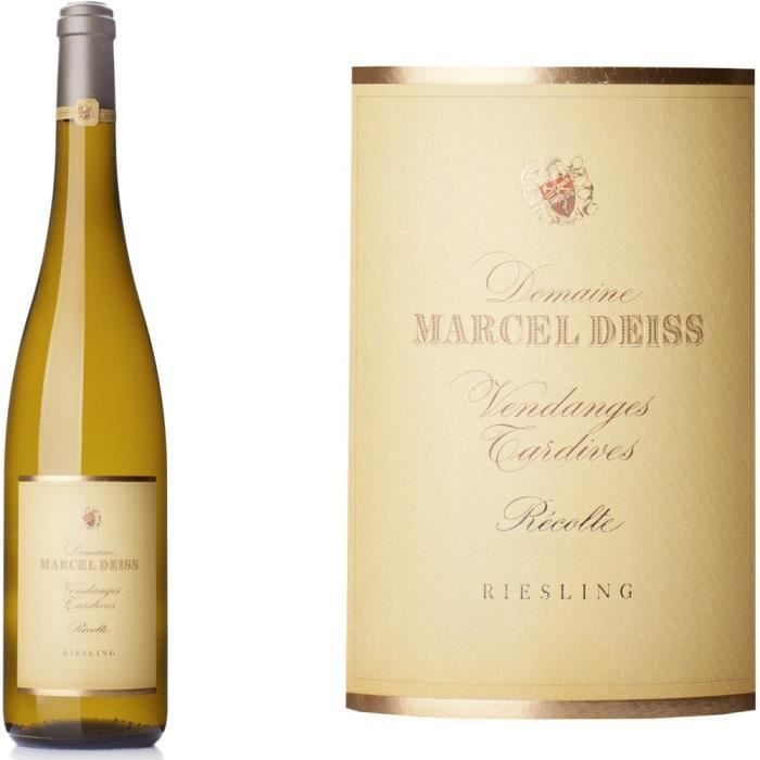 Domaine DEISS 2009 Riesling Vendanges Tardives - Vin blanc d'Alsace
