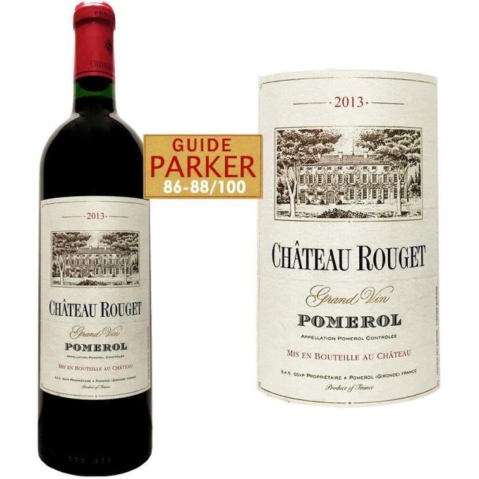 Château Rouget 2013 Pomerol - Vin rouge de Bordeaux