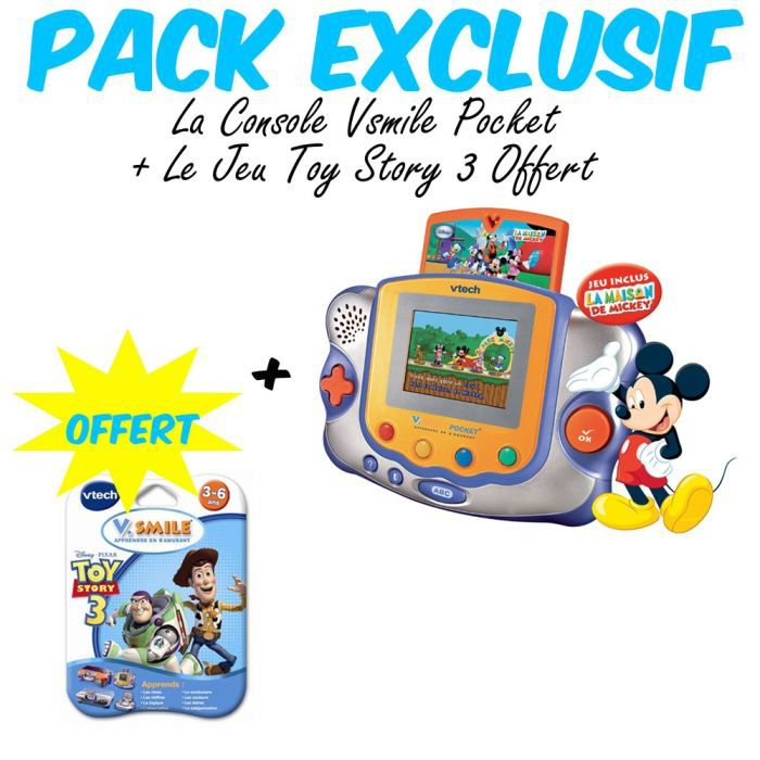 Pack Exclusif V.Smile Pocket Mickey + 1 Jeu