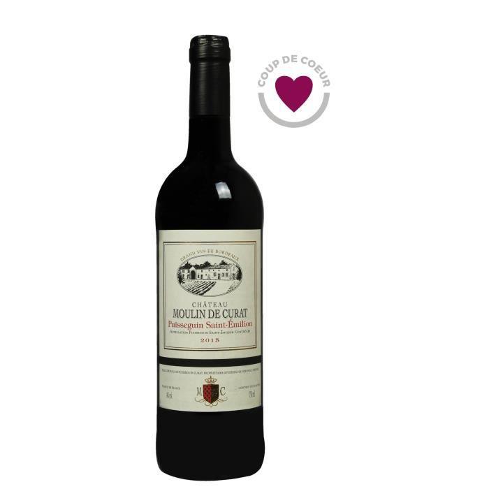 Château Moulin De Curat 2015 Puisseguin Saint-Emilion - Vin rouge de Bordeaux