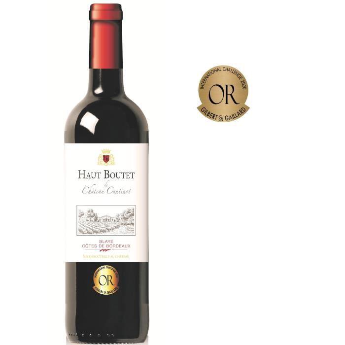 Haut Boutet du Château Cantinot 2016 Blaye Côtes de Bordeaux - Vin rouge de Bordeaux