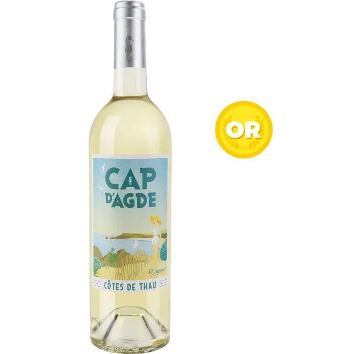 Les Caves Richemer Cap d'Agde Côtes de Thau Souvenir - Vin blanc de Languedoc