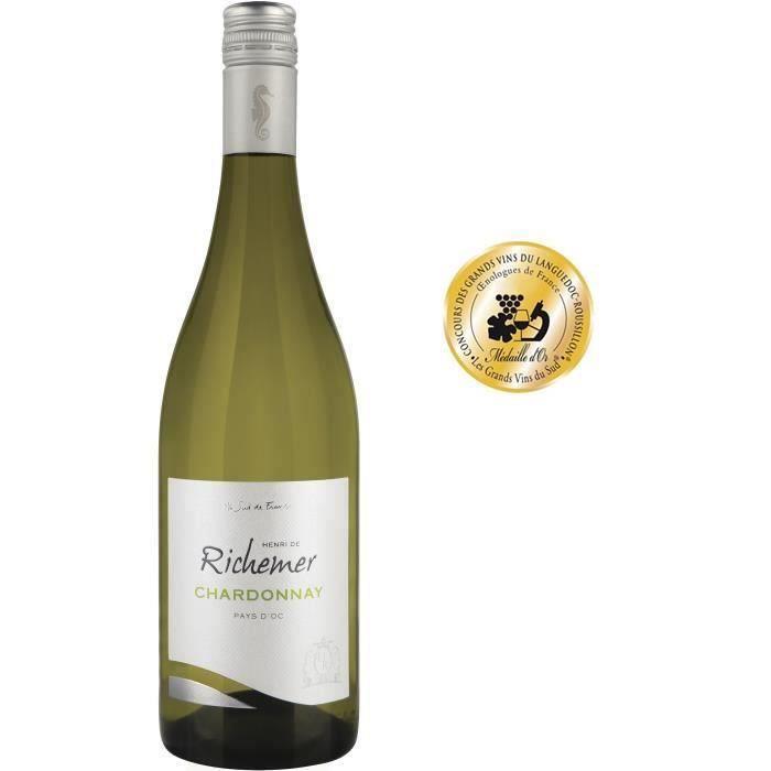 Les Caves Richemer 2019 Pays d'Oc Chardonnay - Vin blanc de Languedoc