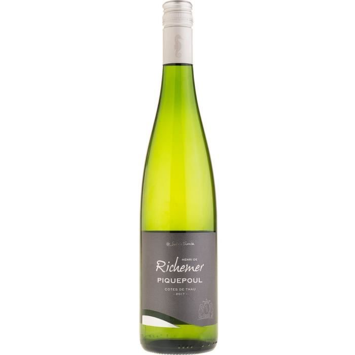 Les Caves Richemer 2019 Côtes de Thau Piquepoul - Vin blanc de Languedoc