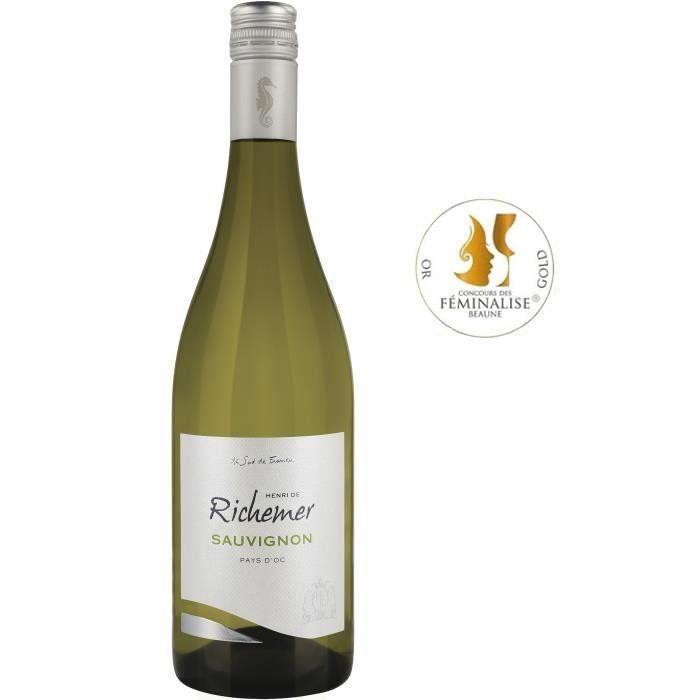 Les Caves Richemer 2019 Pays d'Oc Sauvignon - Vin blanc de Languedoc