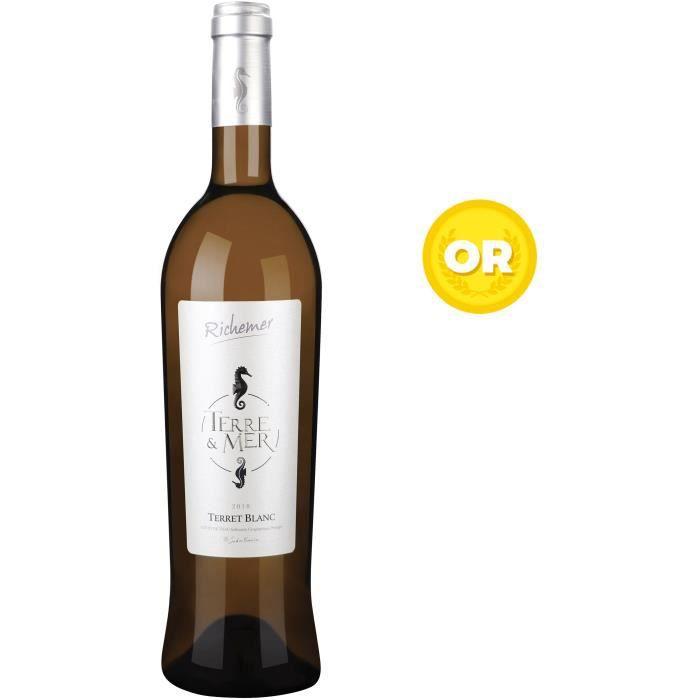 Les Caves Richemer Terre & Mer 2019 Côtes de Thau Terret Blanc - Vin blanc de Languedoc