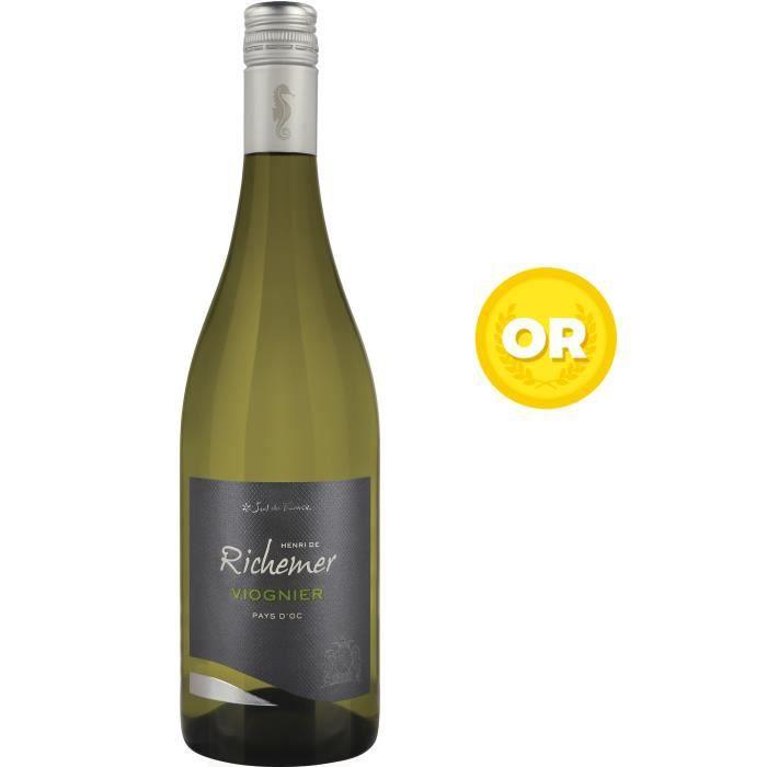 Les Caves Richemer 2019 Pays d'Oc Viognier - Vin blanc de Languedoc