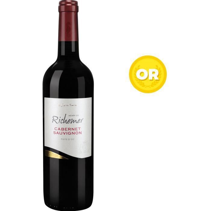 Les Caves Richemer 2019 Pays d'Oc Cabernet Sauvignon - Vin rouge de Languedoc