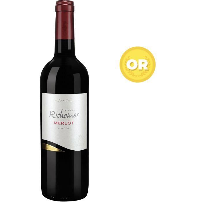 Les Caves Richemer Pays d'Oc Merlot - Vin rouge de Languedoc
