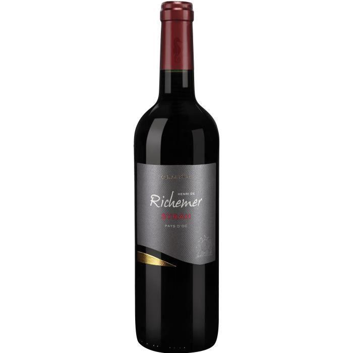 Les Caves Richemer 2019 Pays d'Oc Syrah - Vin rouge de Languedoc