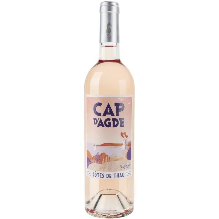 Les Caves Richemer Cap d'Agde 2019 Côtes de Thau Souvenir - Vin rosé de Languedoc