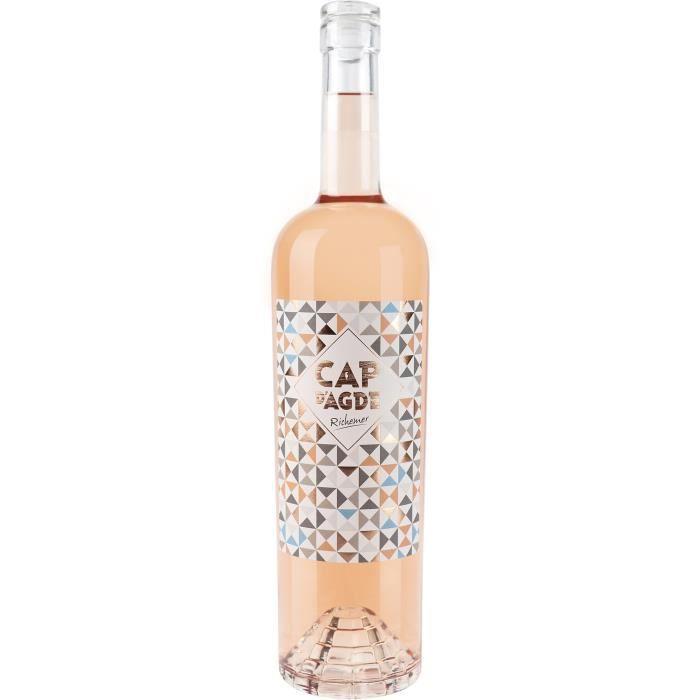 Les Caves Richemer Cap d'Agde 2019 Côtes de Thau Sentiments - Vin rosé de Languedoc