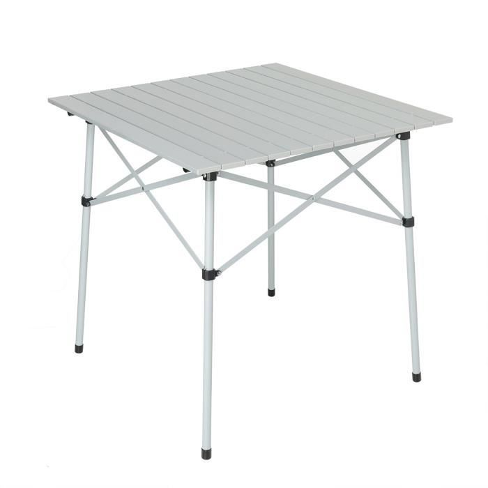 TRIGANO Table Aluminium