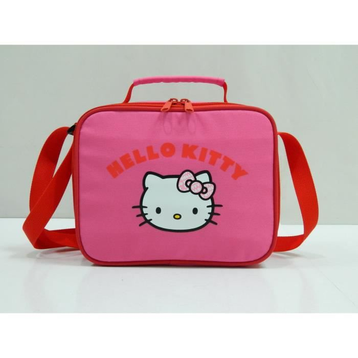 HELLO KITTY - SAC DEJEUNER Primaire Fille 23x9x18 Rose
