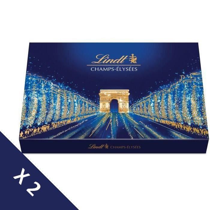 [Lot de 2] LINDT Boîte de chocolat Assorti Champs-Elysées - 469 g