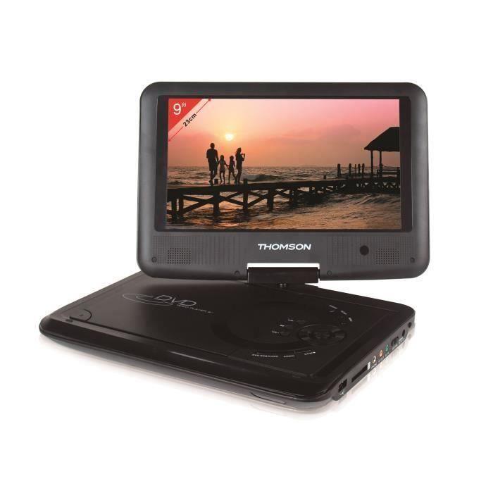 THOMSON THP359 Lecteur DVD portable - Ecran 9'' rotatif - Port USB/SD