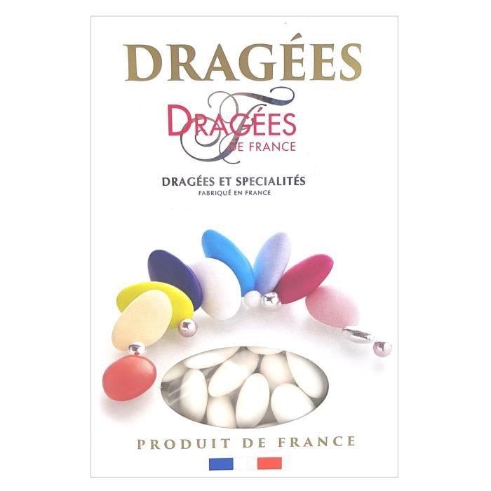 DRAGEES DE FRANCE Dragées Belle de nuit - Blanc - 40% d'amande - 1 kg
