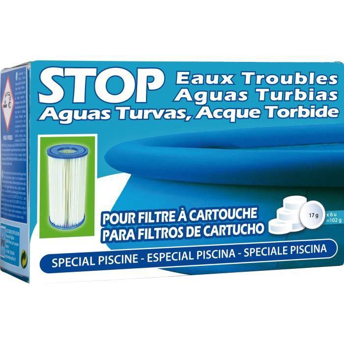 SAN MARINA Pastilles Stop eaux troubles - 102 g - Pour les piscines avec filtre à cartouche