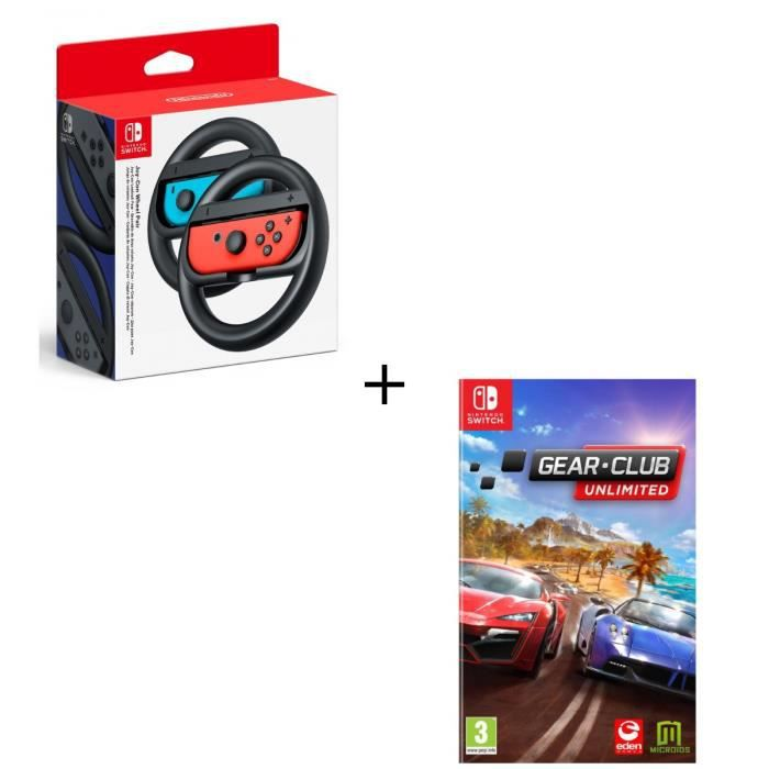 Pack 1 jeu Switch + volant : Club Gear