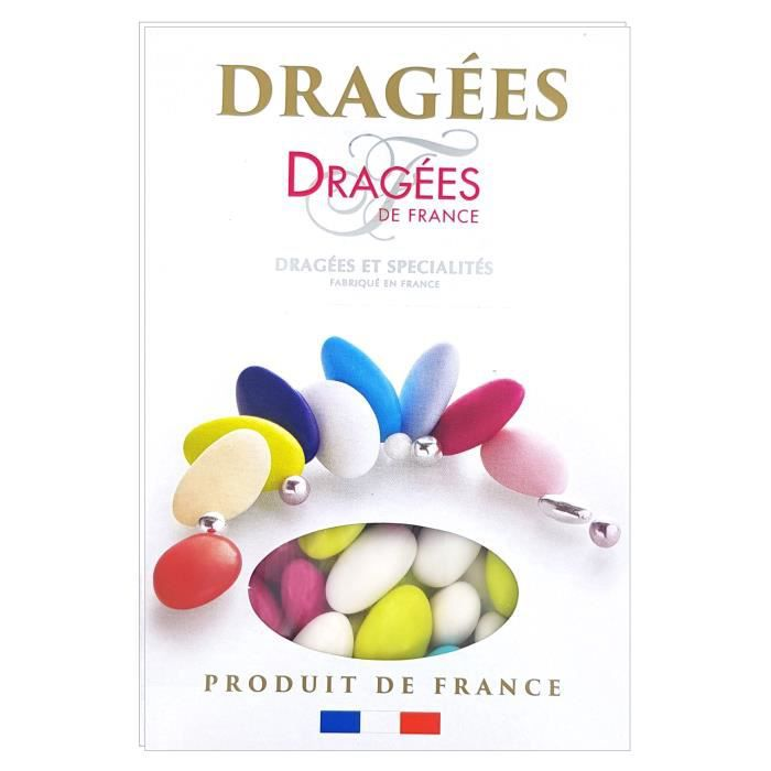 DRAGEES DE FRANCE Dragées Belle de nuit - Couleurs vives - 40% d'amande - 1 kg