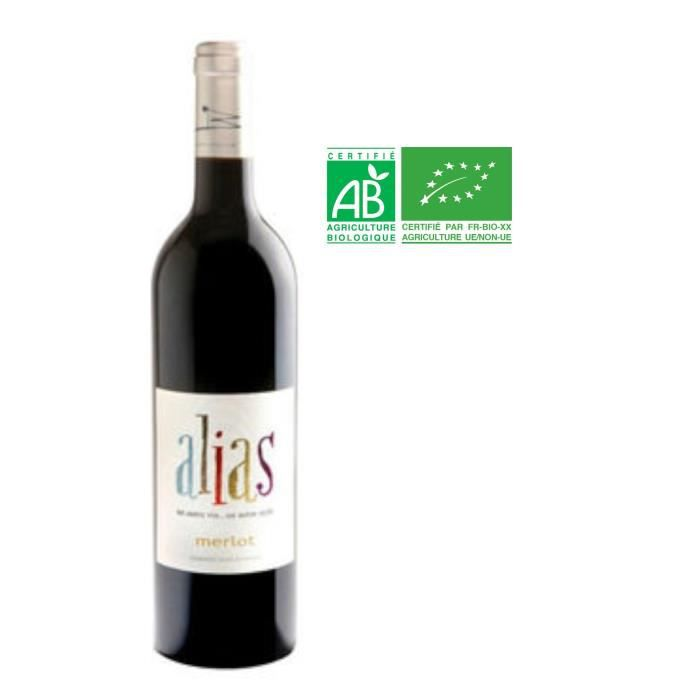 Alias 2015 Merlot - Vin de France rouge BIO