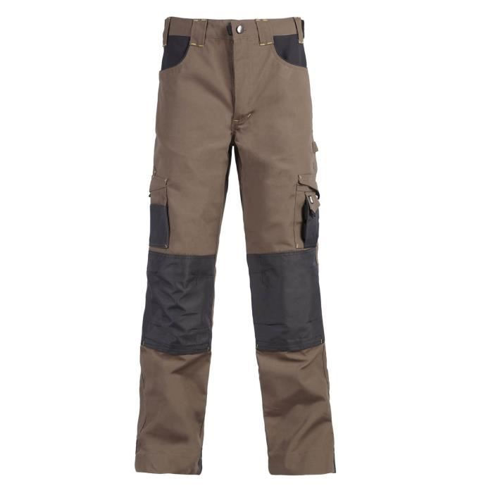NORTH WAYS Pantalon de travail Adam - Mixte - Brun / Anthracite