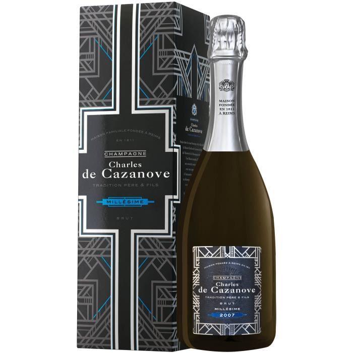 Champagne De Cazanove Tradition Millésime - 2007 avec étui