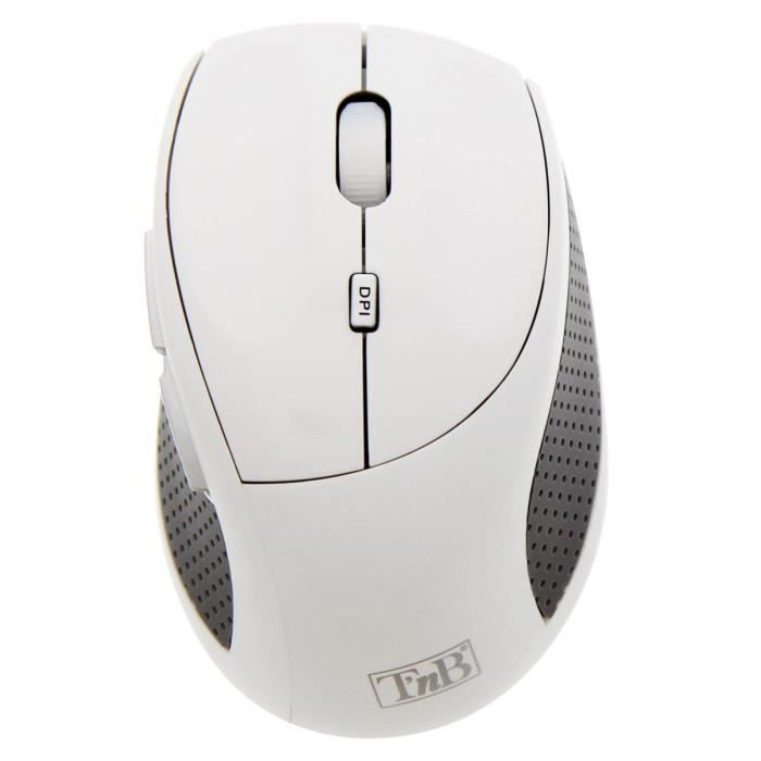T'nB Souris EXPERT Sans fil - 6 boutons - 2400 DPI - Windows/Mac - Blanc