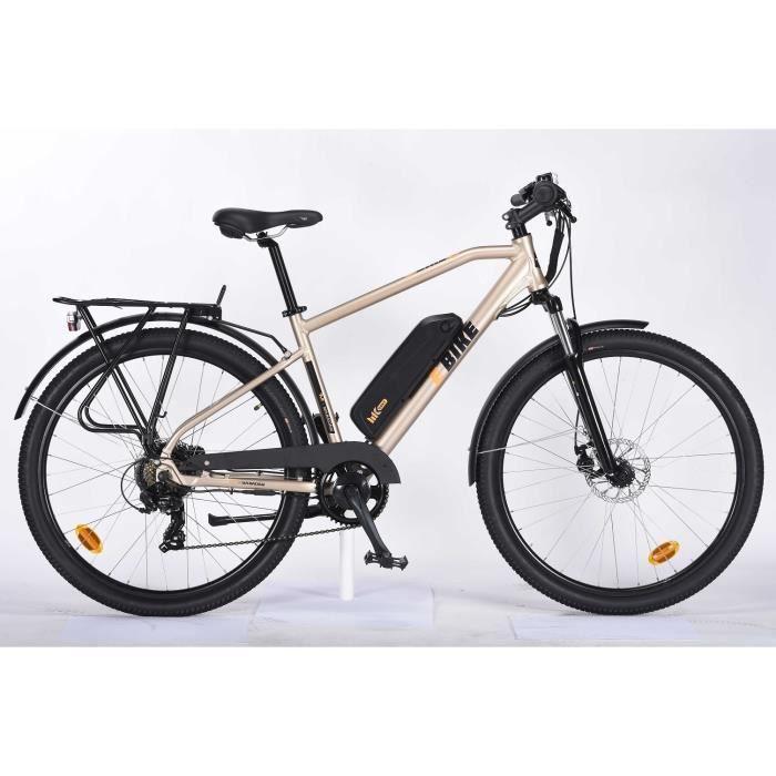TVT Vélo électrique YATTWI 27,5- - Autonomie 45 km - 7 vitesses avec Shimano - Freins à disque - Cadre alu - Homme - Or