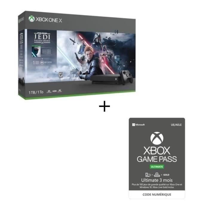 Xbox One X 1 To Star Wars Jedi : Fallen Order + Abonnement Xbox Game Pass Ultimate 3 mois
