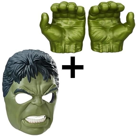 AVENGERS - Masque HULK + Poings Deluxe