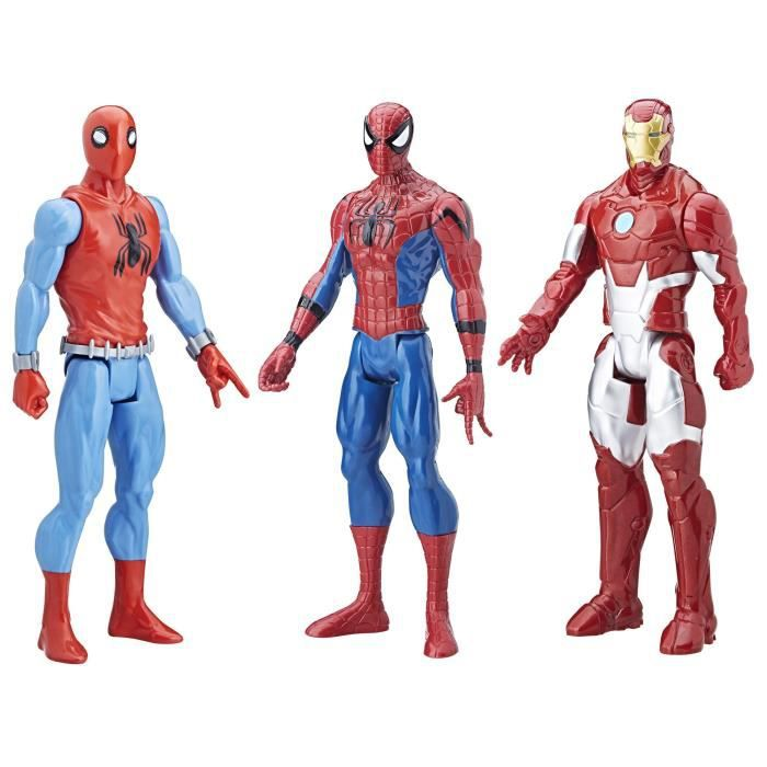 SPIDERMAN - Pack de 3 Figurines Titan 30cm