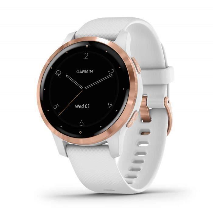 Garmin - Vívoactive 4S - Montre connectée GPS Multi-sports & Santé - Musique au poignet Garmin Pay - Autonomie Longue Durée