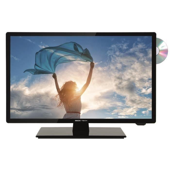 SEEVIEW Télévision LED HD + DVD DVB-T2 S2 - 24.5-