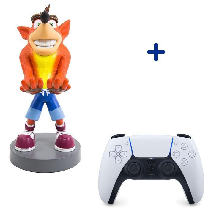 Pack PlayStation : Manette PS5 DualSense Blanche/White + Figurine Crash Bandicoot - Support de Manette Exquisite Gaming