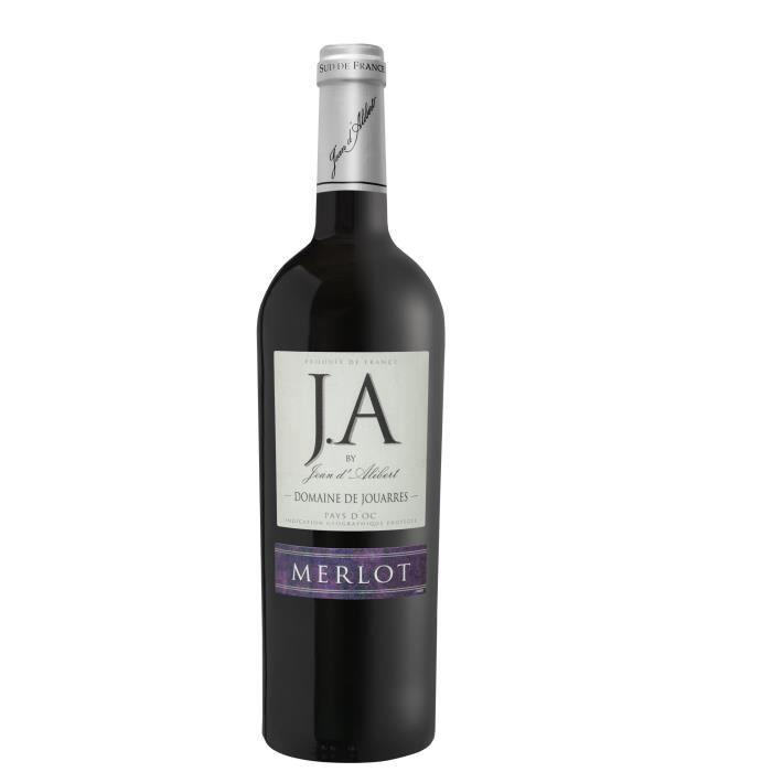 J.A By Jean d'Alibert Merlot Domaine de Jouarres 2018 Pays d'Oc - Vin Rouge du Languedoc-Roussillon