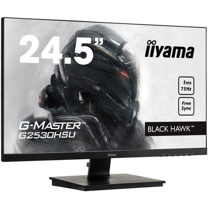 Ecran PC Gamer - IIYAMA G-Master Black Hawk G2530HSU-B1 -...
