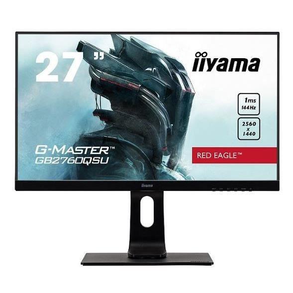 Ecran PC - IIYAMA G-Master Red Eagle GB2760QSU-B1 - 27- WQHD - Dalle TN - 1ms - 144Hz - DVI-D/DisplayPort/HDMI