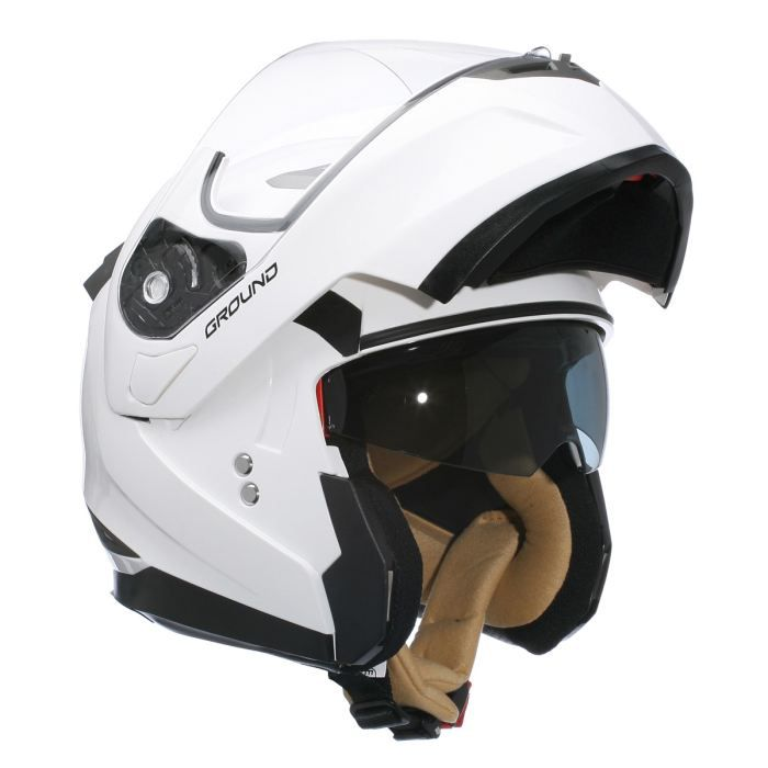Stormer Casque Modulable GROUND Blanc Brillant