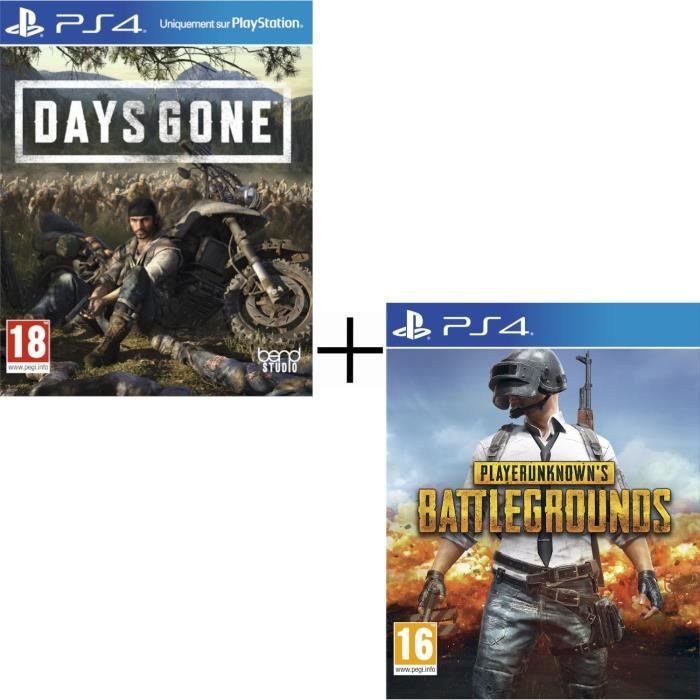Pack Jeux PS4 : Days Gone + PlayerUnknown's Battlegrounds - PUBG