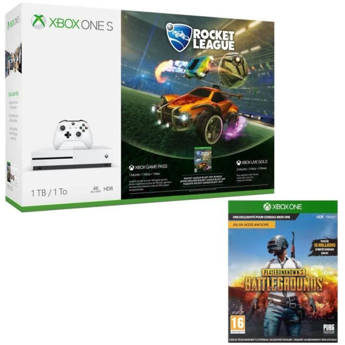 Xbox One S 1 To Rocket League + PUBG
