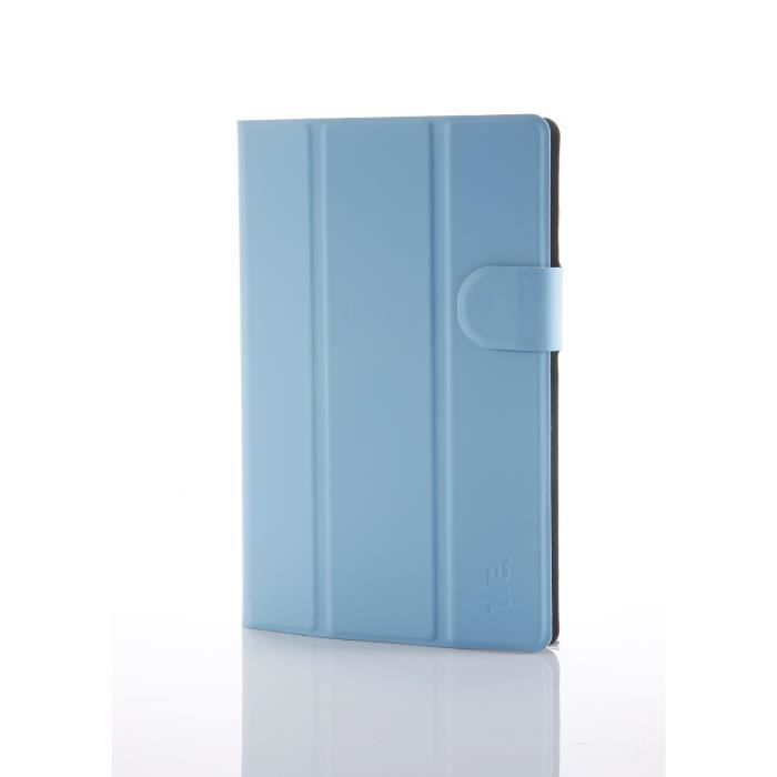 WE Etui Universel Tablettes 7'' Tpu 4 Attaches En Silicone Ajustables - Bleu