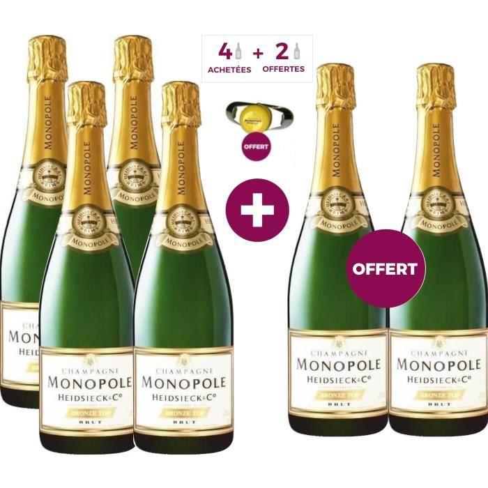 4 achetées + 2 offertes - Champagne Heidsieck Monopole Brut