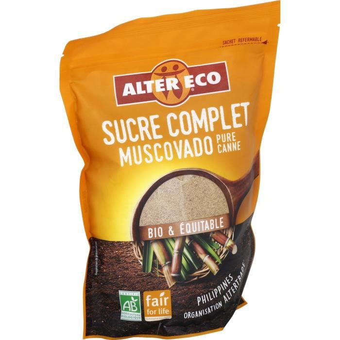Alter Eco Sucre Complet Muscovado Poudre 500g