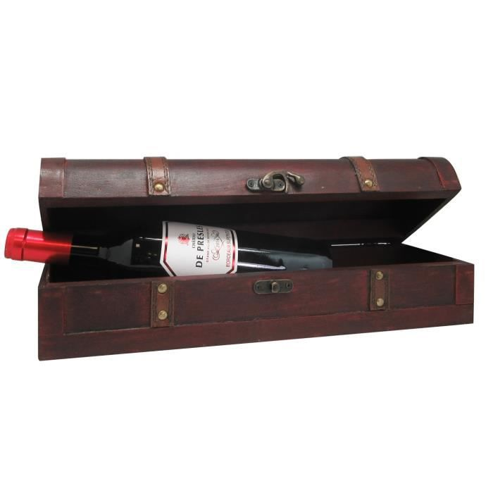 Coffret bois antique - Château De Presles 2014 Bordeaux Supérieur - Vin Rouge de Bordeaux