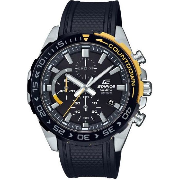 CASIO Edifice Montre EFR-566PB-1AVUEF date, chrono, lunette compte à rebours