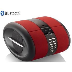 NAF NAF DNI068 SENSE BT Radio CD portable MP3 USB Bluetooth Rouge
