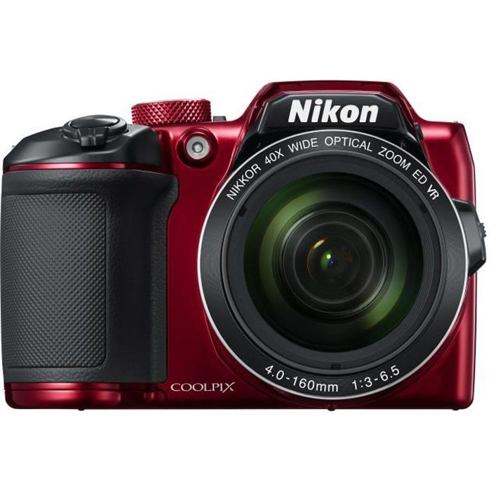 NIKON COOLPIX B500 - Appareil photo numérique Bridge - Bluetooth - Rouge